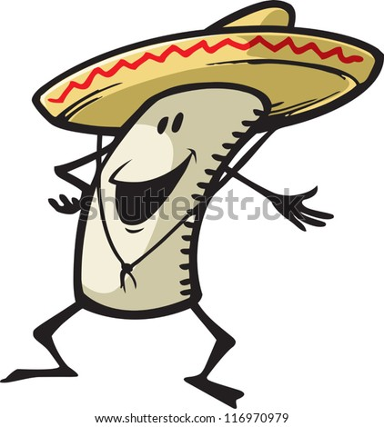 Happy Burrito - stock vector