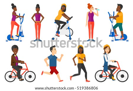 happy business woman riding a