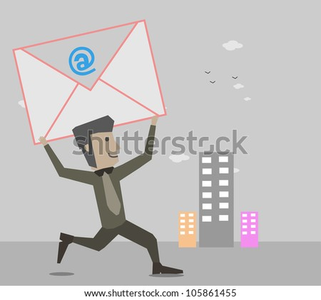 Happy Businessman Email