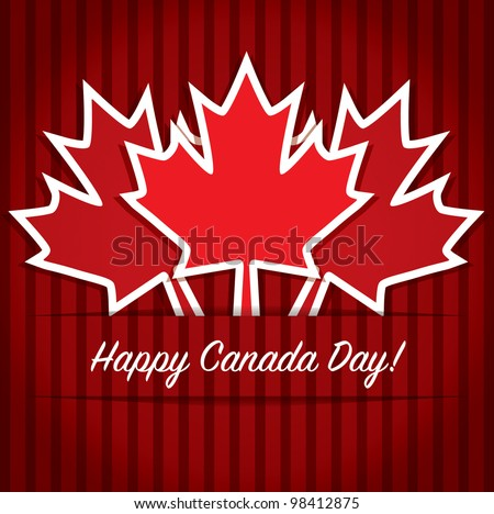 Happy Canada Day card in vector format