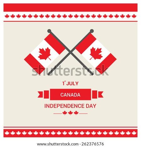 happy canada day card in vector