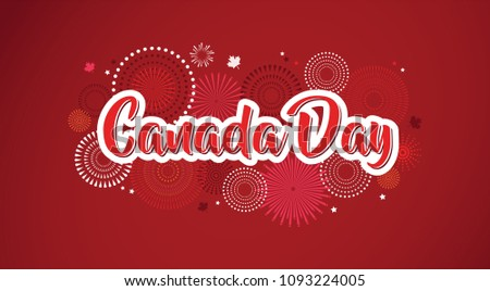Happy canada day greeting download free vector art stock graphics happy canada day poster 1st july vector illustration greeting card canada maple leaves m4hsunfo