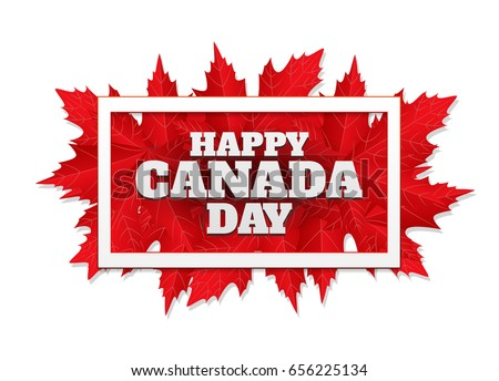 Happy canada day greeting download free vector art stock graphics happy canada day poster 1st july vector illustration greeting card with frame canada m4hsunfo