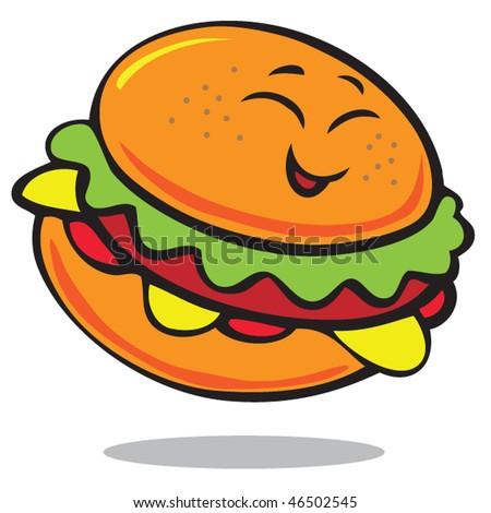 A Fat Boy Cartoon. stock vector : Happy cartoon