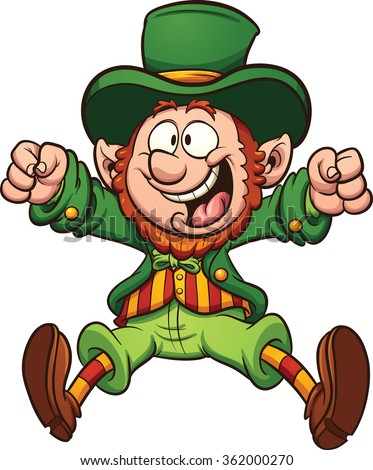 happy cartoon leprechaun