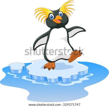 happy cartoon penguin