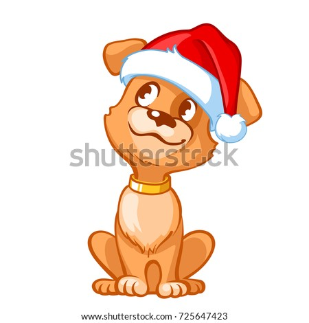 happy cartoon puppy wearing