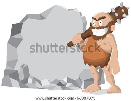 happy caveman