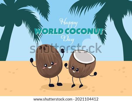 happy celebrating coconuts