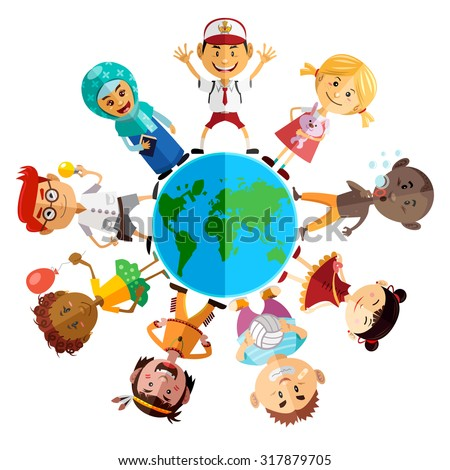 happy children day illustration