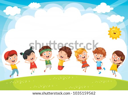 happy children playing outside