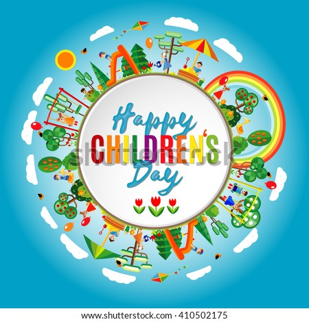happy childrens day background
