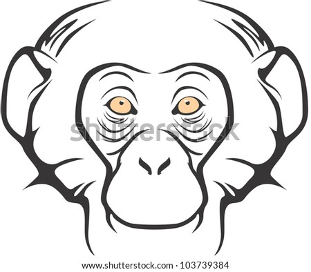 Happy Chimpanzee Illustration