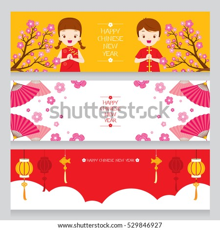 happy chinese new year banners