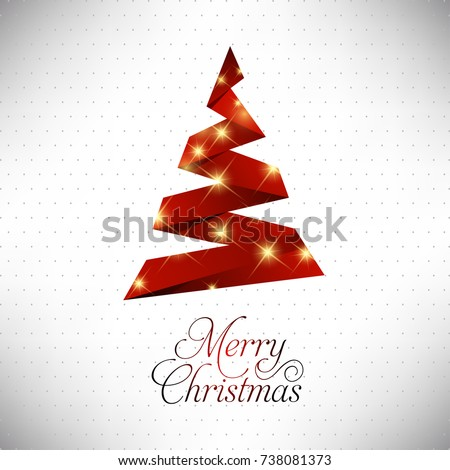 Happy Christmas. Happy New Year. Merry christmas. Red X-mas with Yellow Glow on white background #738081373
