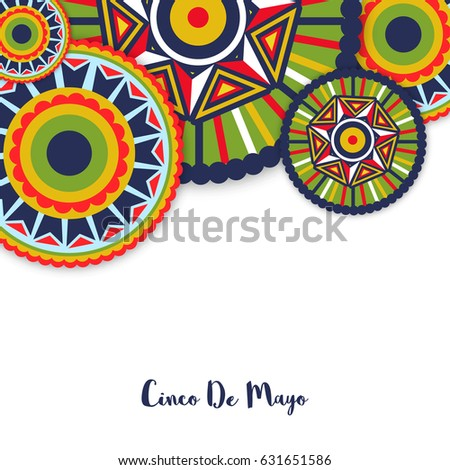 Happy Cinco De Mayo Celebration abstract background
