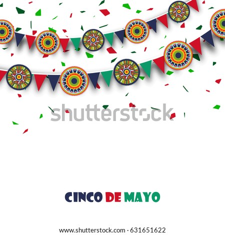 Happy Cinco De Mayo Celebration abstract background