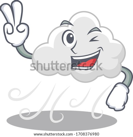 happy cloudy windy cartoon