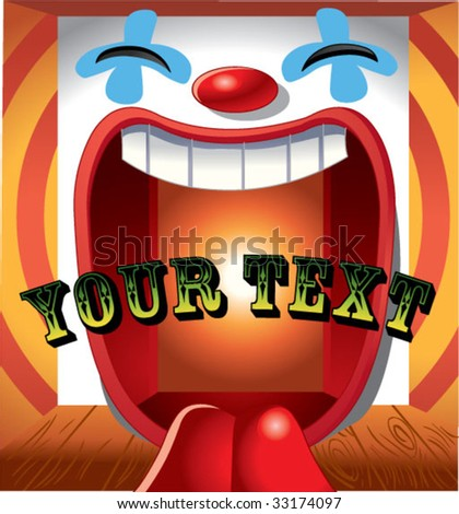 happy clown background with text on center