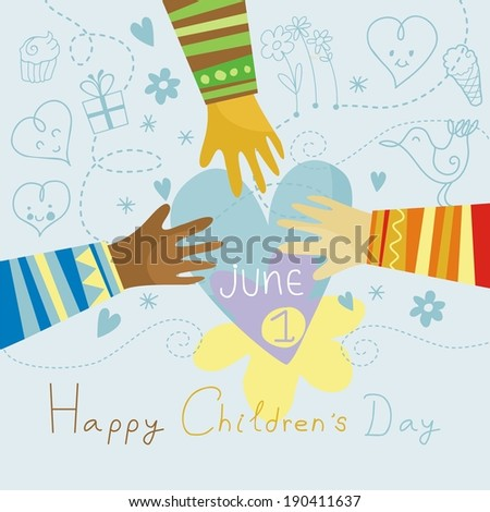 Happy colorful illustration for Children's Day