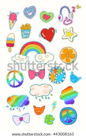 happy colorful patches
