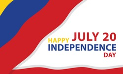 Happy Columbia Independence Day Vector