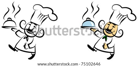 Happy cook - stock vector