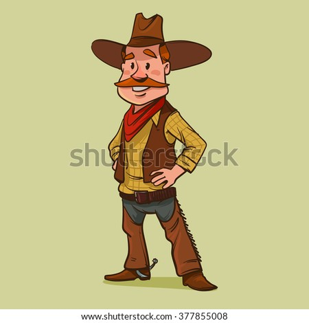 happy cowboy  cartoon character