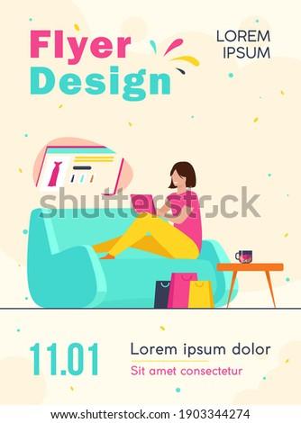 happy customer shopping online