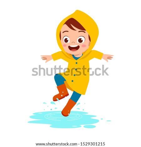 happy cute kid boy play wear