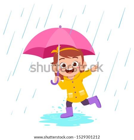 happy cute kid girl play wear