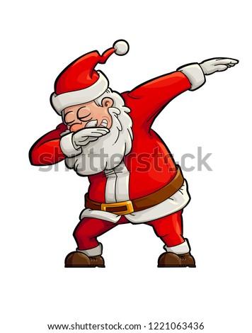happy dancing santa claus doing