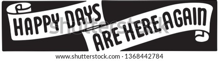 Happy Days - Retro Ad Art Banner