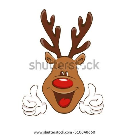 happy deer showing ok sign