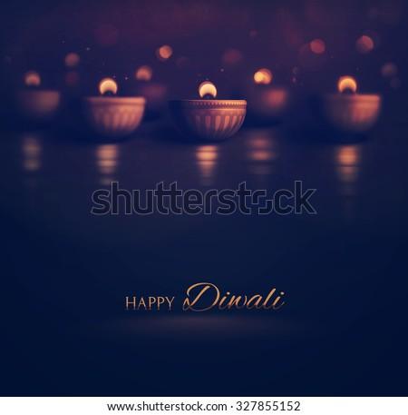 happy diwali  burning diya  eps