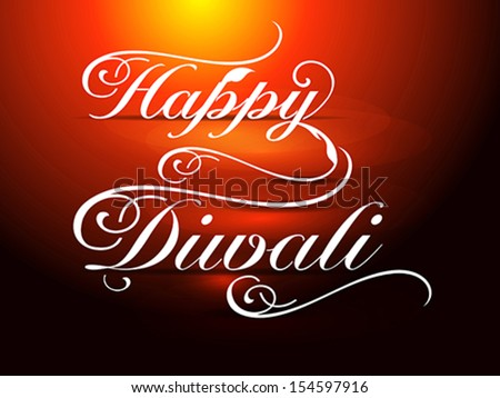 Happy Diwali card Vector illustration