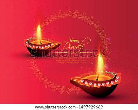 happy diwali festival with oil