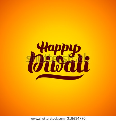 happy diwali hand lettering