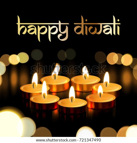 Premium diwali festival greeting background with diya lamp happy diwali indian greeting card for traditional festival of lights holiday deepavali vector gold candle m4hsunfo