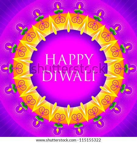 happy diwali motif design