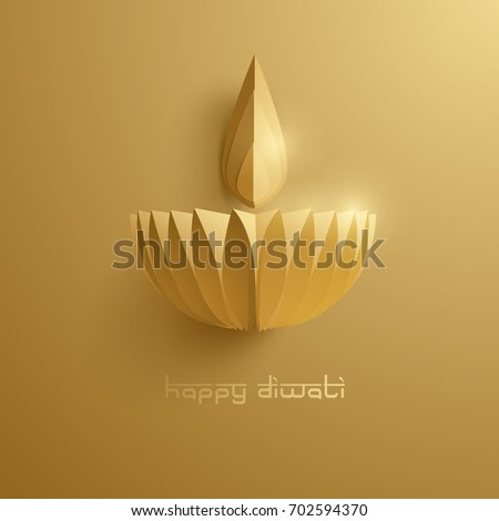 happy diwali paper graphic of