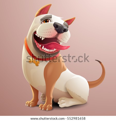 happy dog illustration