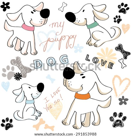 happy dog puppy friend love paw
