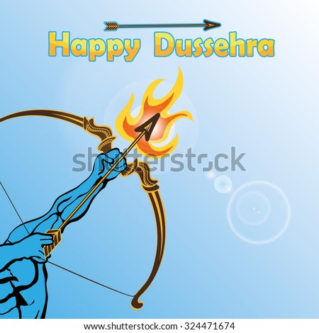 happy dussehra cardlord rama
