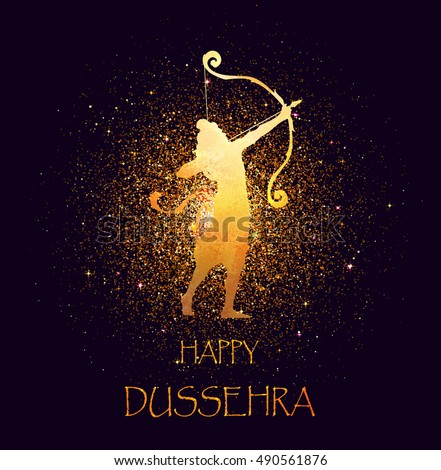 happy dussehra celebration card