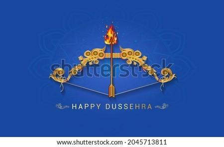Happy Dussehra. Indian vijayadashami festival concept and celebration