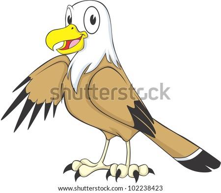 happy eagle cartoon stock vector illustration 102238423