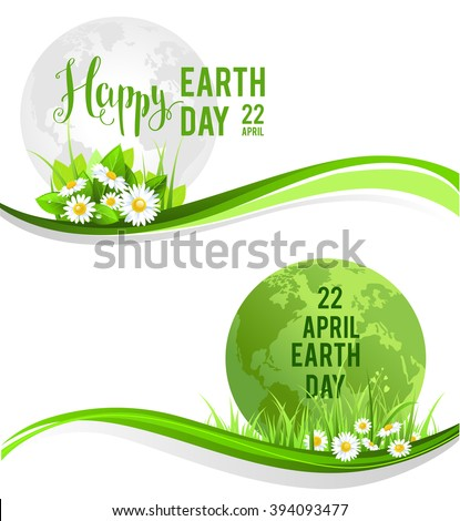 happy earth day banners for