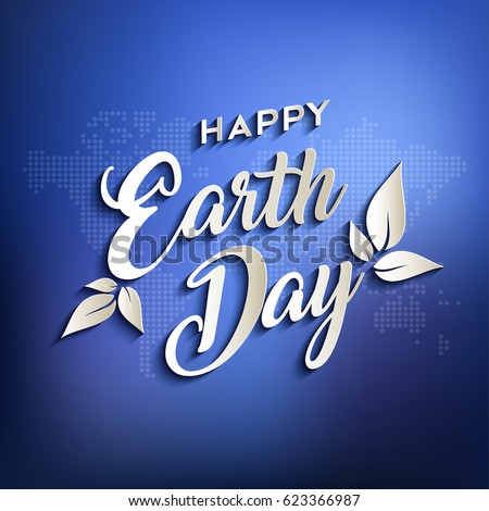 happy earth day design for