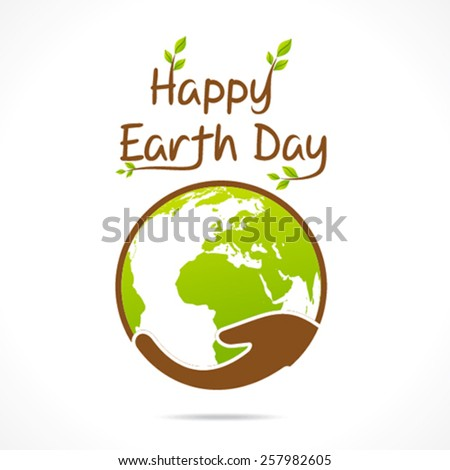 happy earth day greeting design